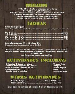 Precios y Horarios 2017 Cabuerniaventura