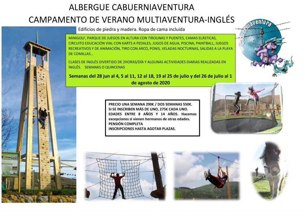Campamentos Inglés Multiaventura 2020